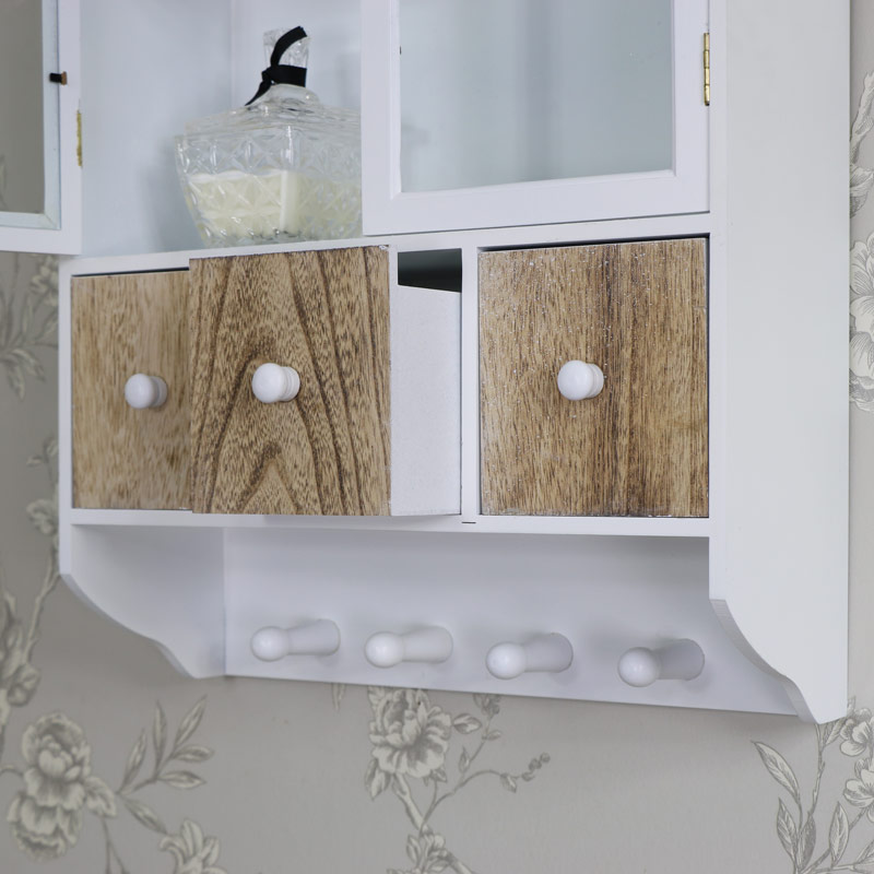 wall cabinet drawers hooks storage unit kitchen bathroom home ebay