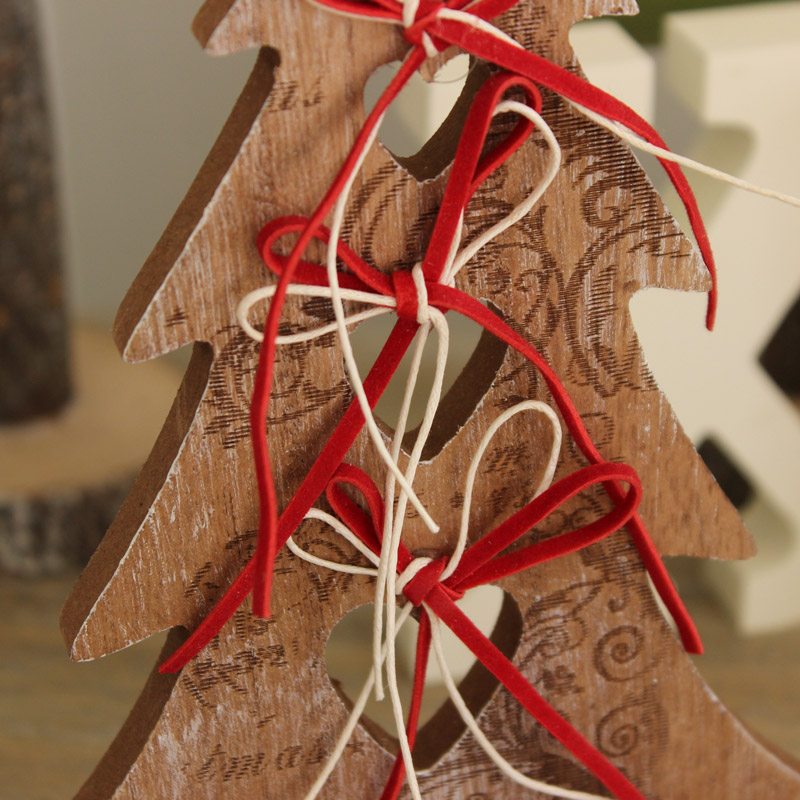 Wooden Bow Christmas Tree