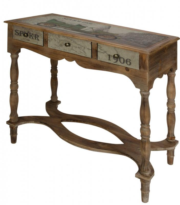 Wooden Vintage Style Console Table