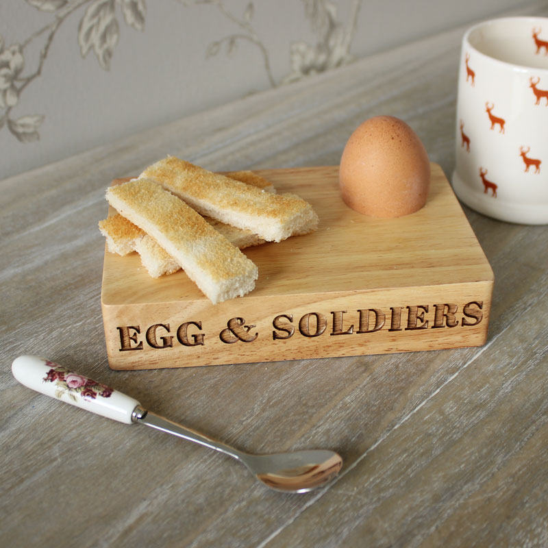 Wooden Eggs & Soldiers Board