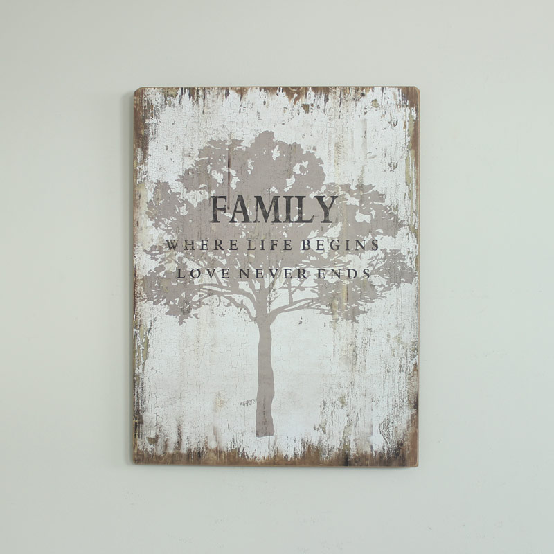 Wooden Family Tree Wall Plaque - Melody Maison®