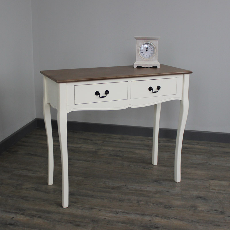 Adela Range - Two Drawer Cream Console Table