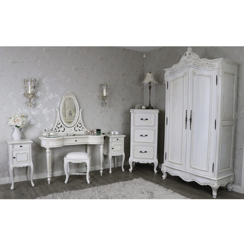 Bedroom Furniture Set Double Wardrobe Tallboy Chest Of