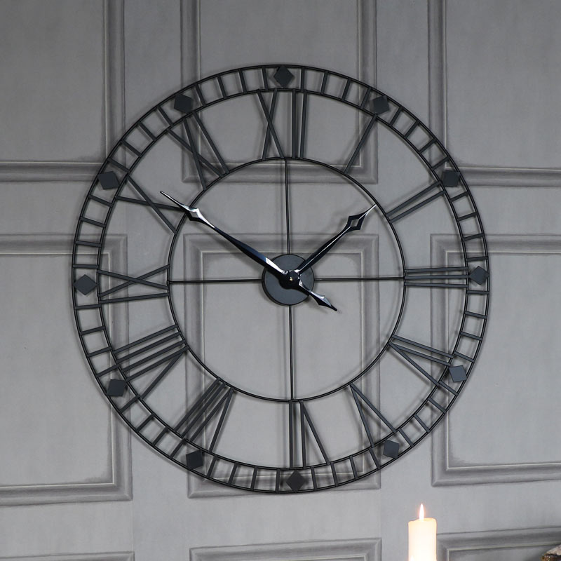 Black Kitchen Clock