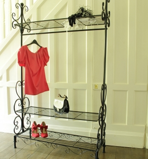 Black Ornate Clothes Rail