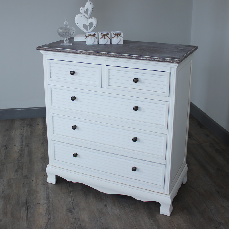 White Chest Of Drawers Bedroom Furniture French Shabby