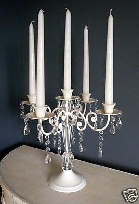 Cream 5-arm Chandelier style candelabra