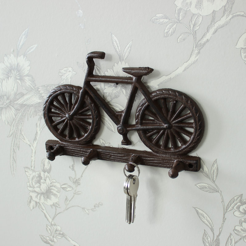 gusseisen wandmontage fahrrad haken schl ssel vintage retro k che flur ebay. Black Bedroom Furniture Sets. Home Design Ideas