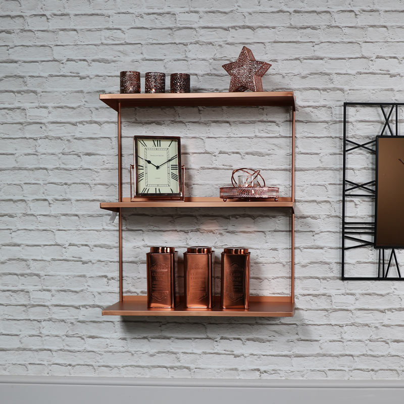 Copper Metal Wall Shelves Melody Maison 174