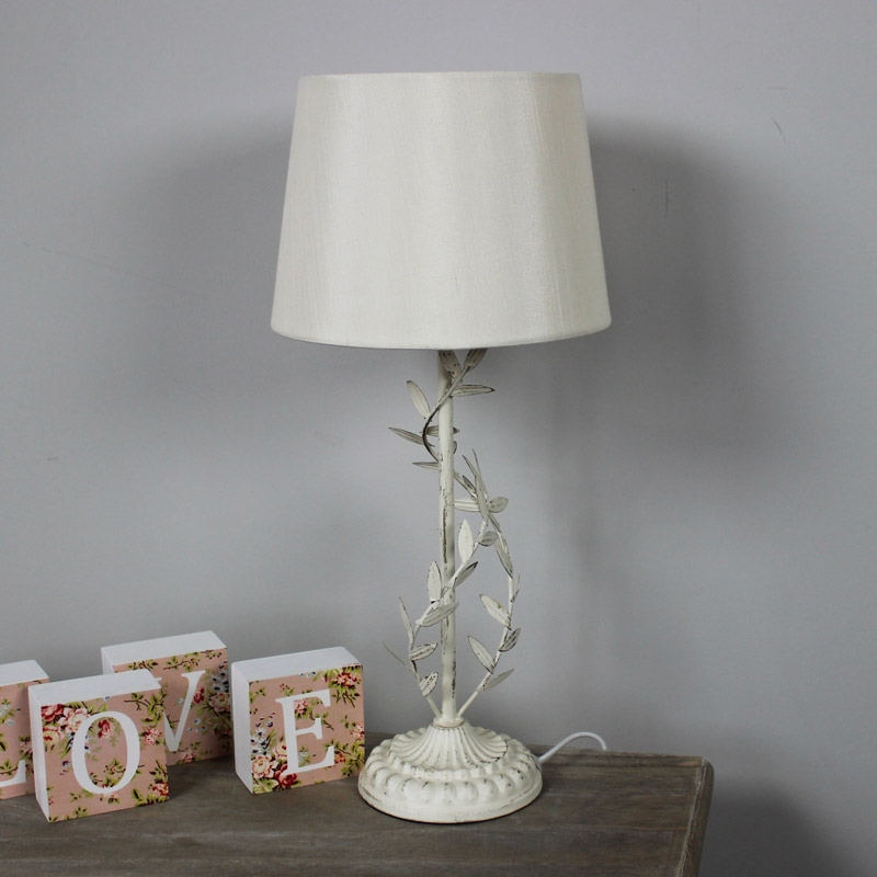 cream metal leaf table lamp leaf lighting french