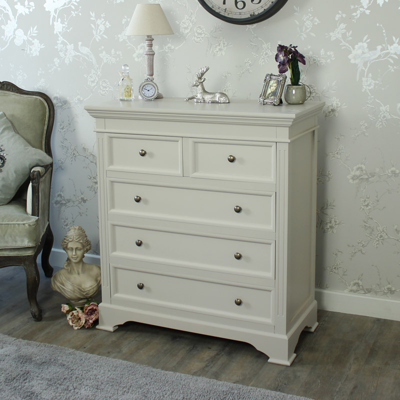 Grey 5 Drawer Chest of Drawers - Daventry Grey Range