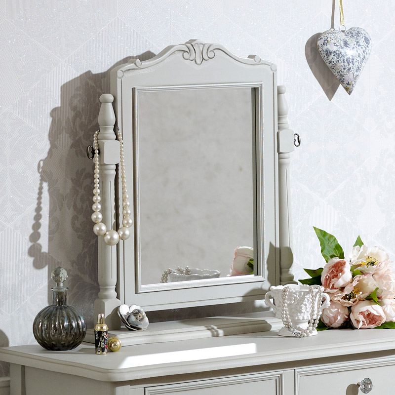 Grey Dressing Table Vanity Swing Mirror - Elise Grey Range