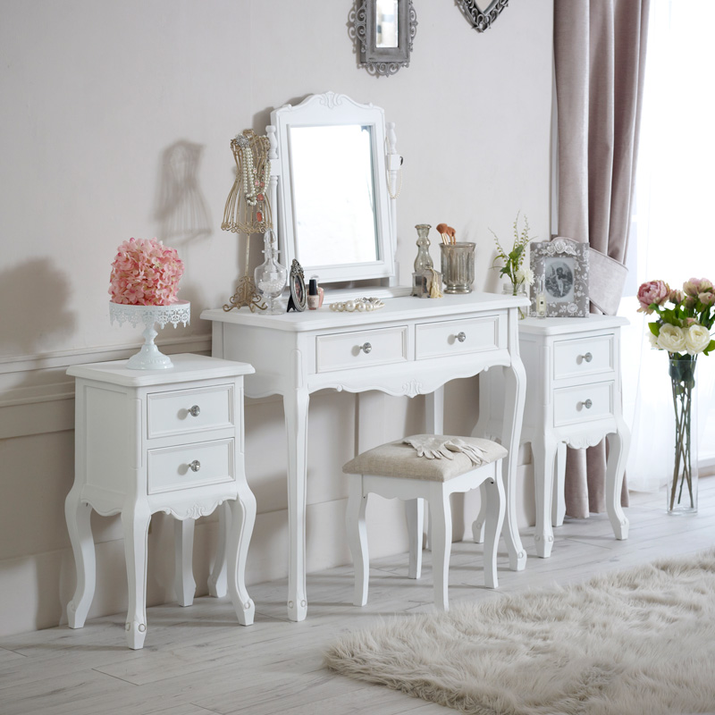 Elise white range furniture bundle dressing table for Range dressing table