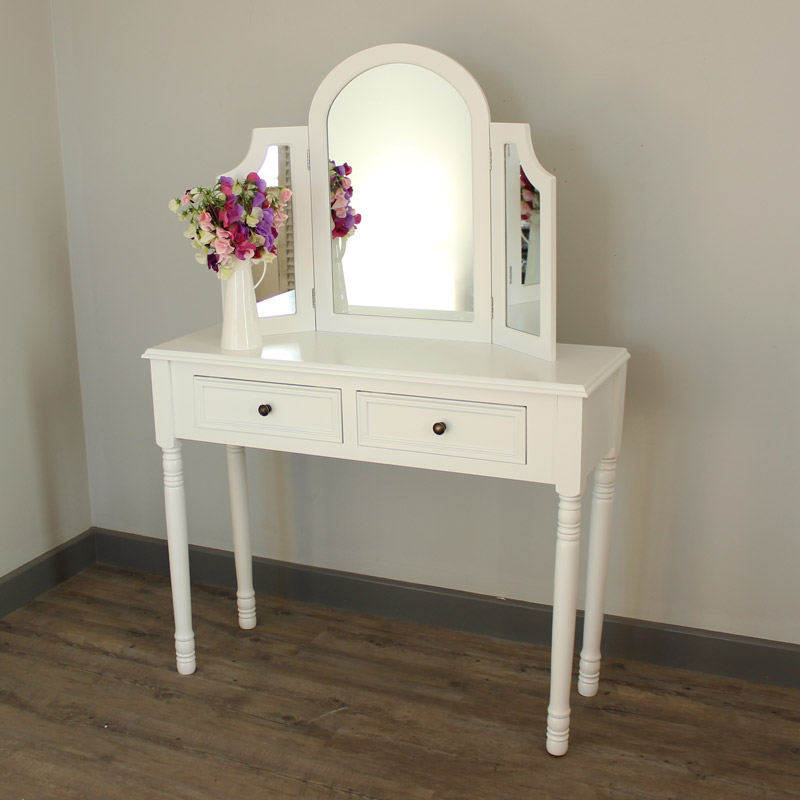 Eliza White Range - Dressing Table and Triple Mirror