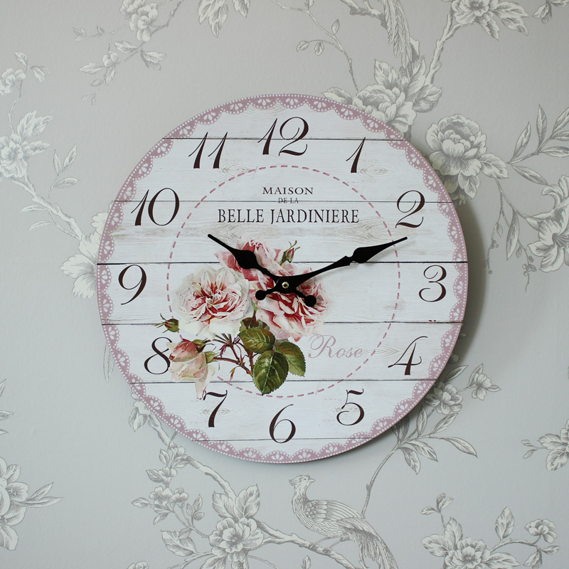 French Floral Wall Clock