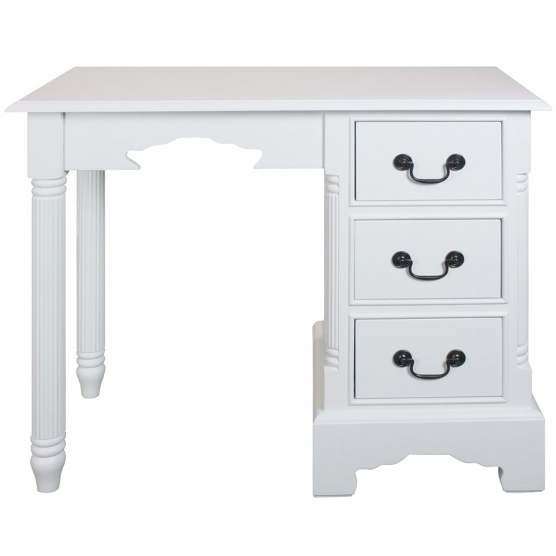 Georgiano Range - White 3 Drawer Dressing Table Console