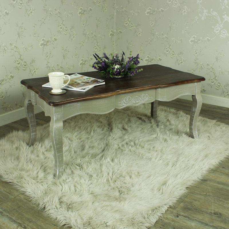 grau holz kaffeetisch shabby vintage chic franz sischer stil wohnzimmer m bel ebay. Black Bedroom Furniture Sets. Home Design Ideas