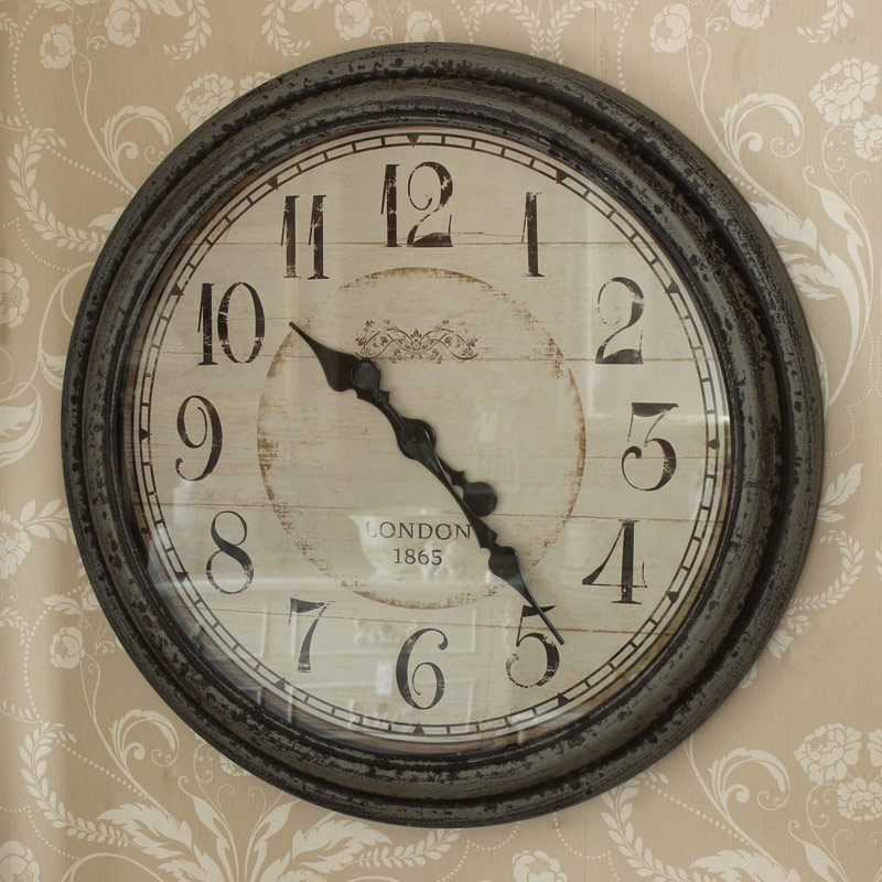 Grey large wall clock melody maisonr for Large wall clock uk