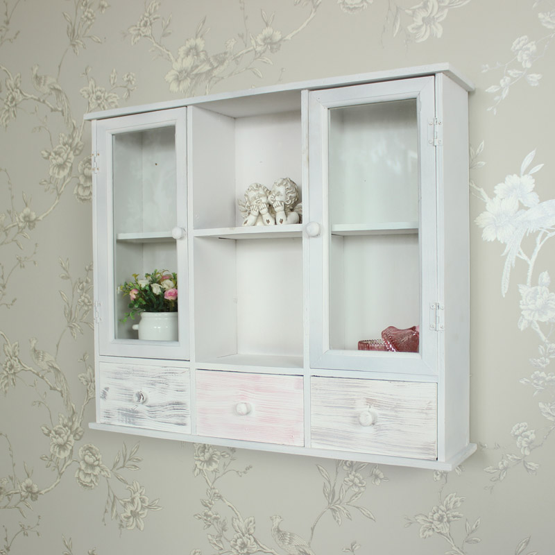 White Washed Wall Mounted Cabinet