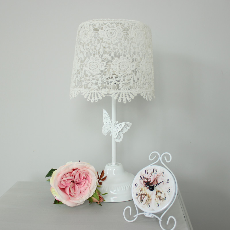 Ivory Butterfly Table Lamp