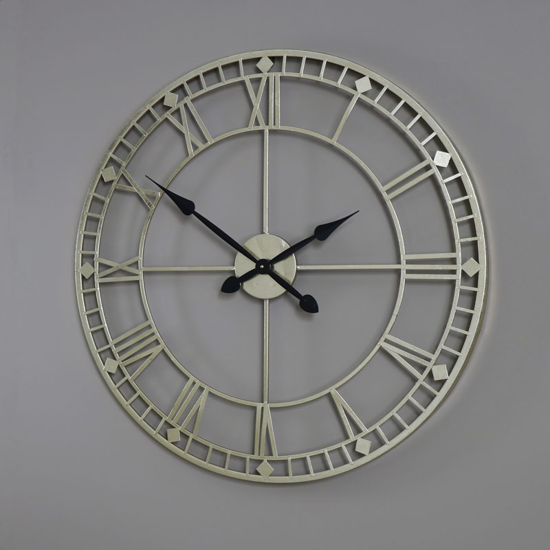 Large gold skeleton style wall clock melody maisonr for Large gold wall clocks
