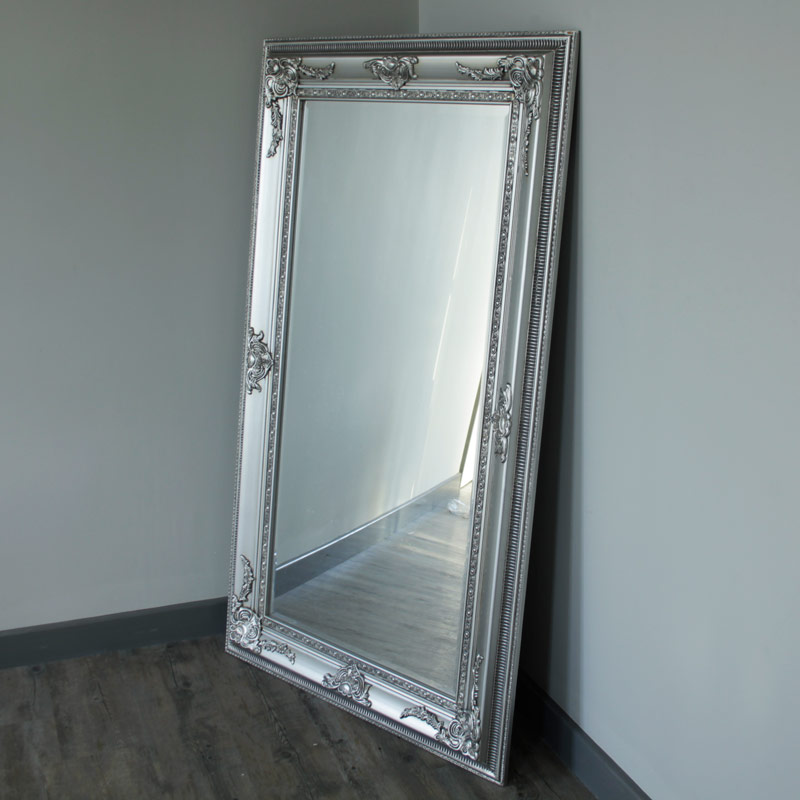 Silver bevel wall mirror melody maison for Floor wall mirror
