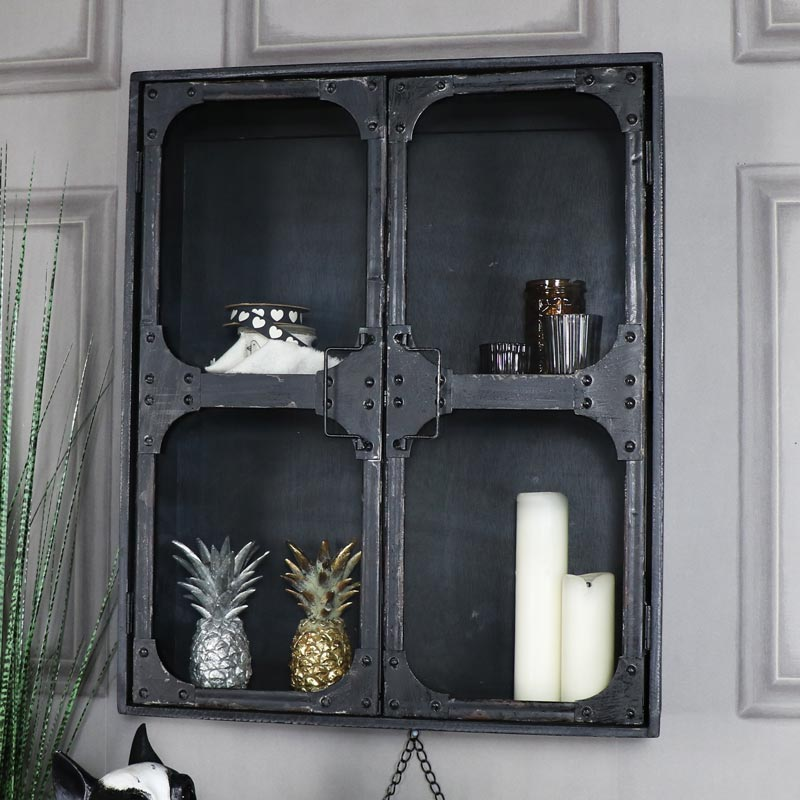 Large Retro Industrial Style Metal Wall Cabinet Melody