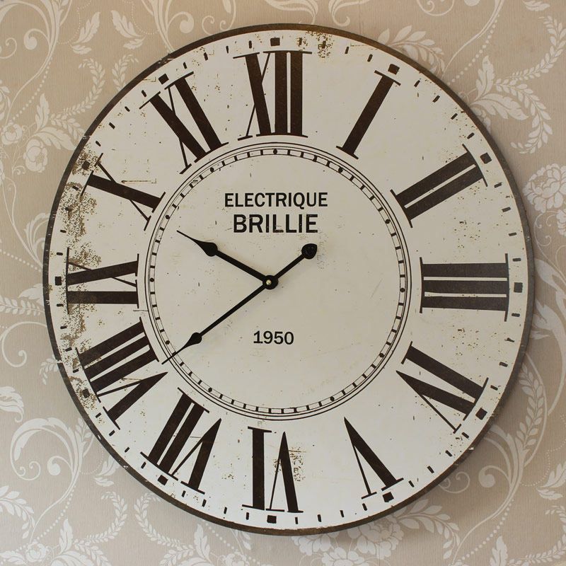 Large Round Electrique Brillie Clock
