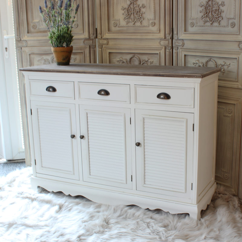 The Brittany Range - Large White Sideboard Cabinet