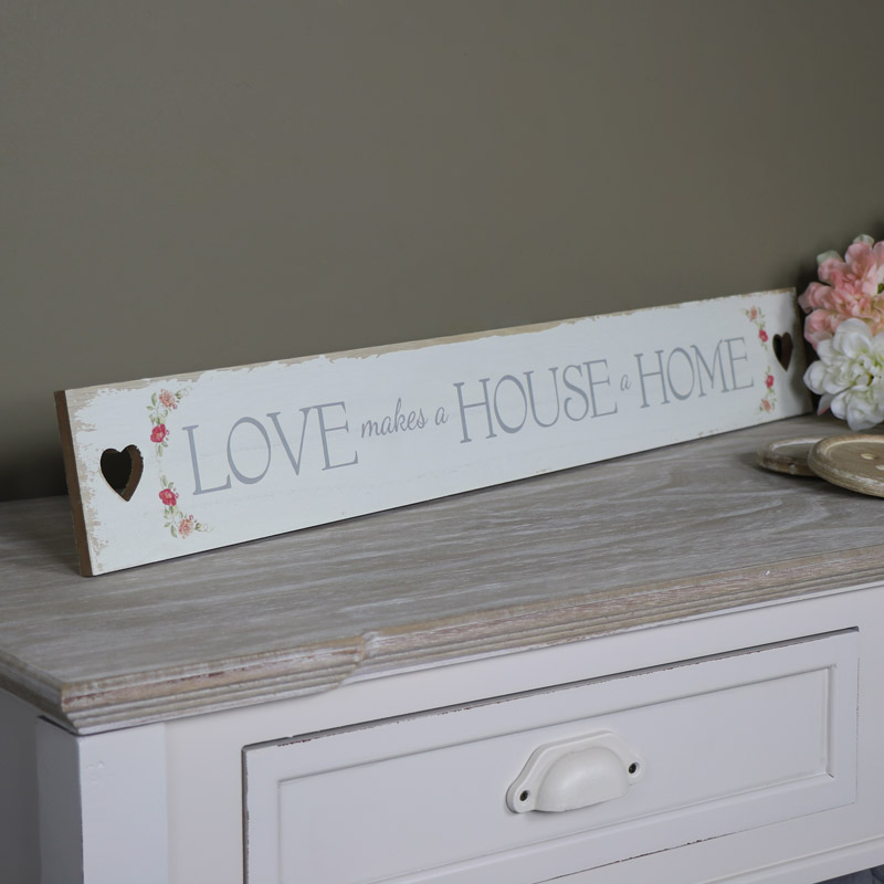 'Love makes a House a Home' Plaque