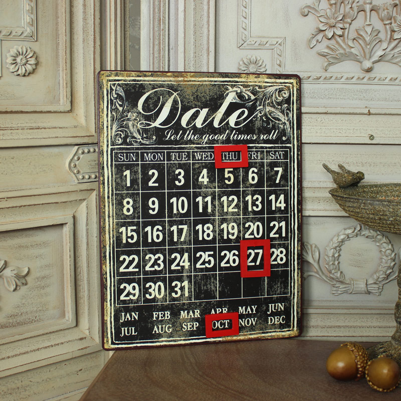 Perpetual Calendar Vintage : Magnetic vintage perpetual wall calendar melody maison