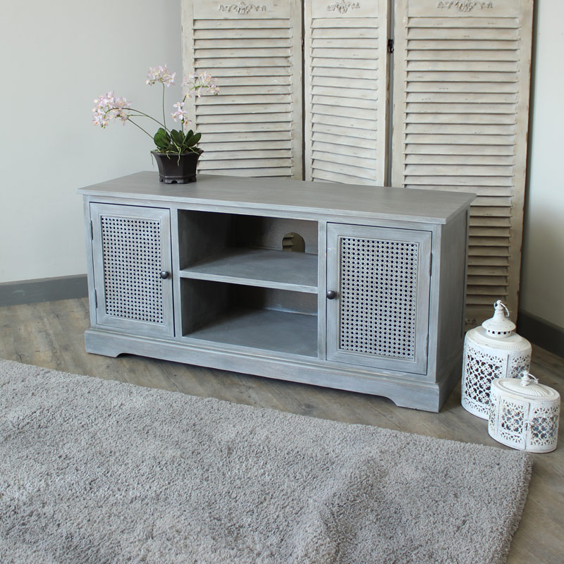 Details about grey television cabinet tv stand living room furniture