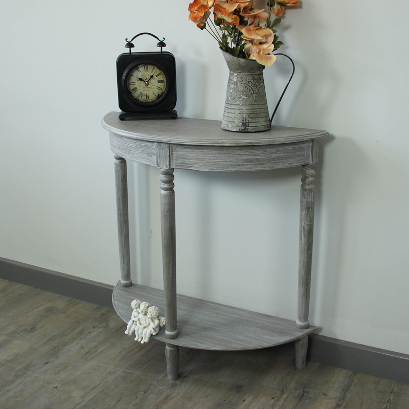 Millan range half moon console table melody maison for Half moon console table