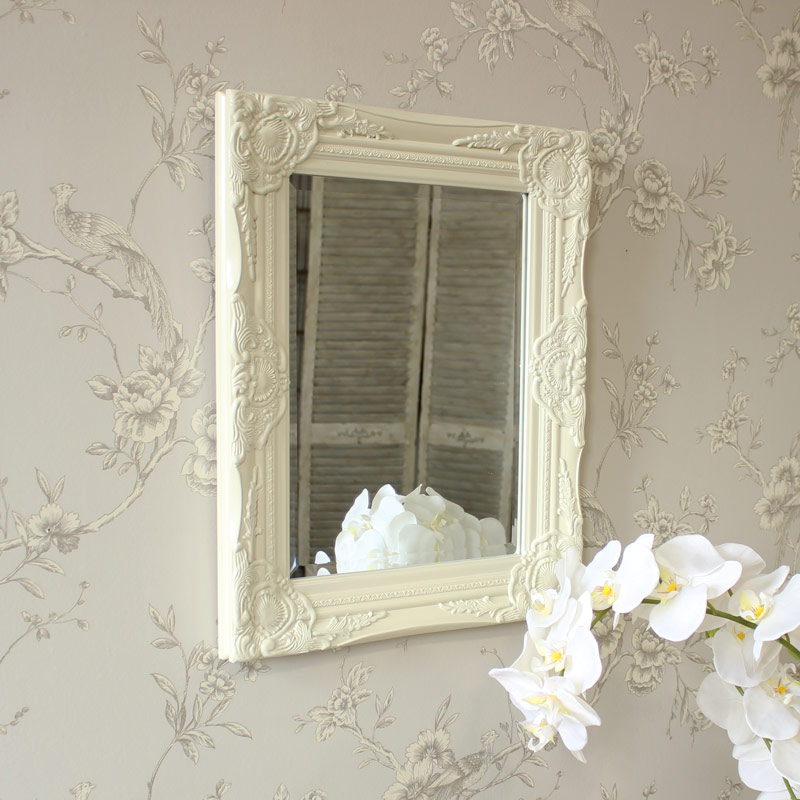 Ornate Cream Wall Mirror