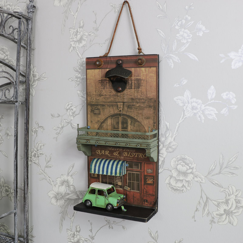 Retro funky bottle opener wall plaque paris car mini for Retro shop paris