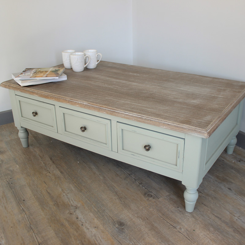 Portsmouth Grey Range - Six Drawer Coffee Table