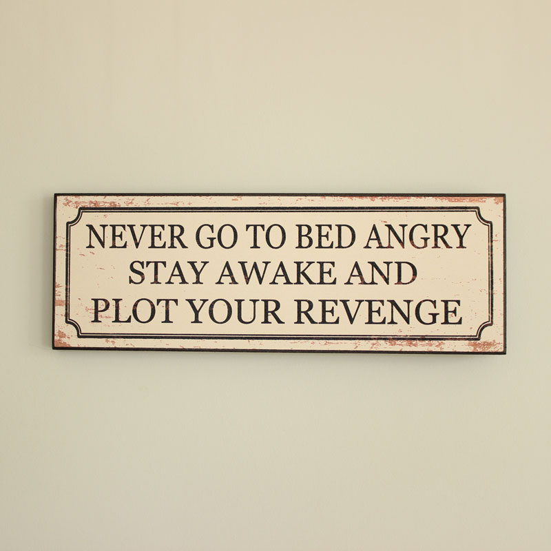 Revenge Wooden Plaque