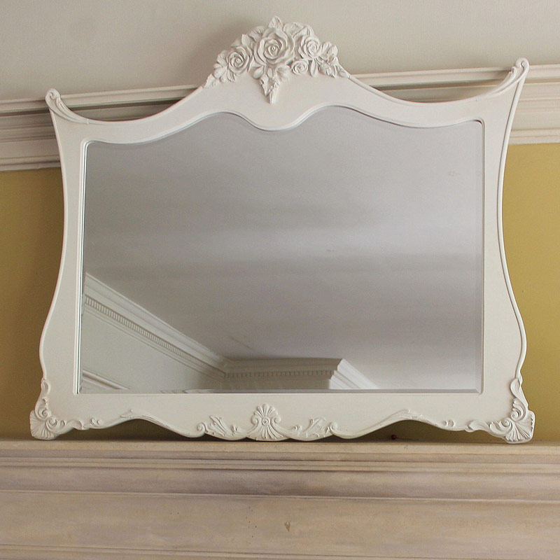 Shabby chic furniture french style home accessories for Extra large mirrors