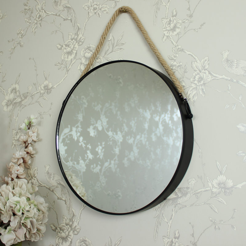 Metal Bedroom Sets Round Black Metal Wall Mirror - Melody Maison®