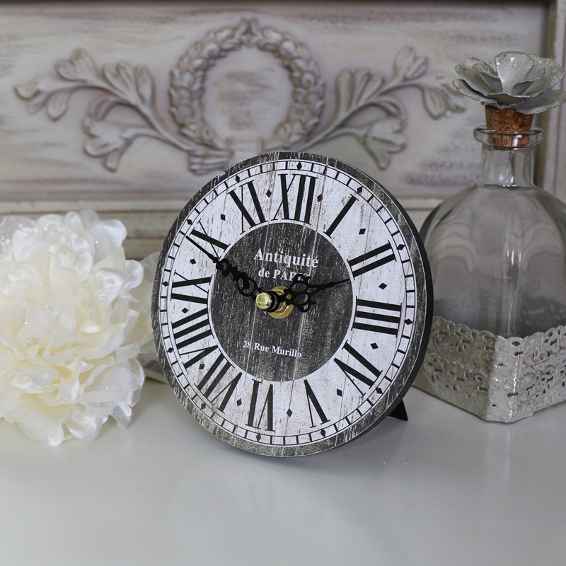 Small Vintage Freestanding Mantel Clock With Roman