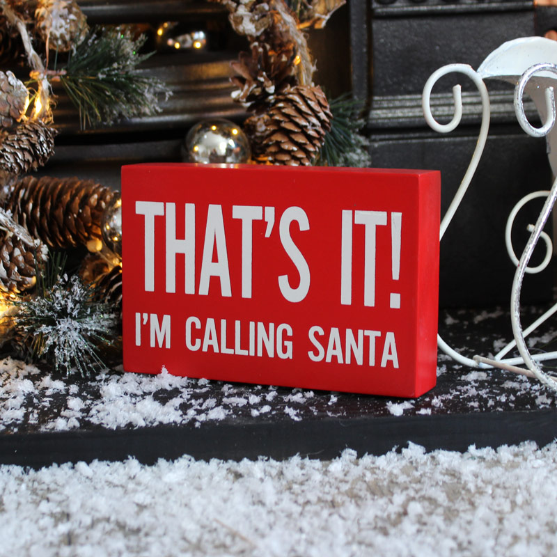 'That's It' Christmas Wall Plaque