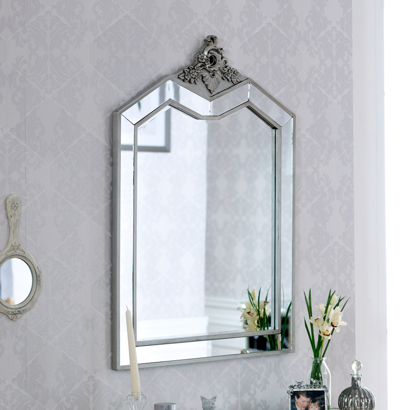 Ornate Mirrored Wall/Dressing Table Mirror - Tiffany Range 67cm x 90cm