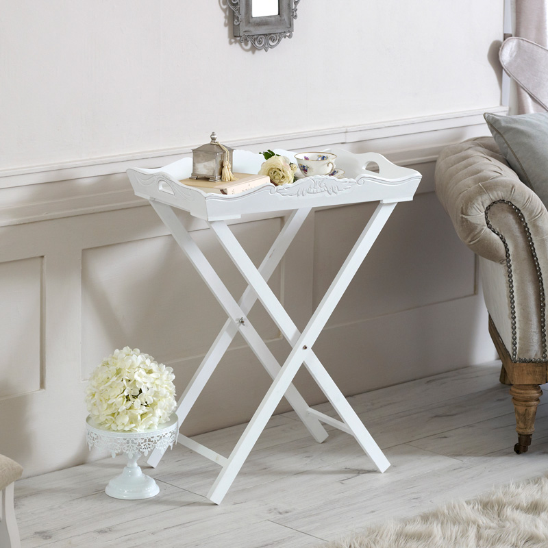 White Wooden Butler's Tray