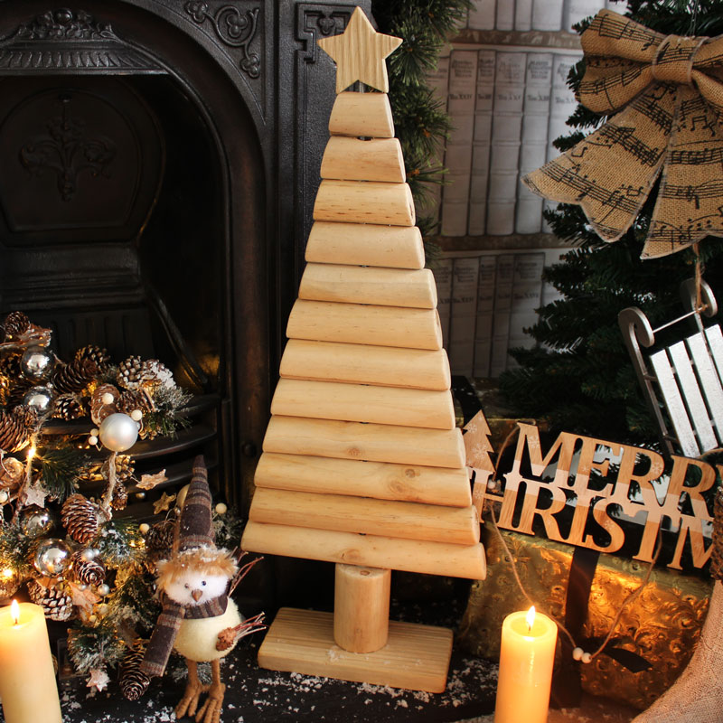 Tall Wooden Christmas Tree