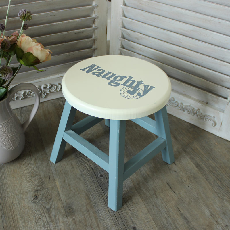 Wooden Painted Naughty Stool