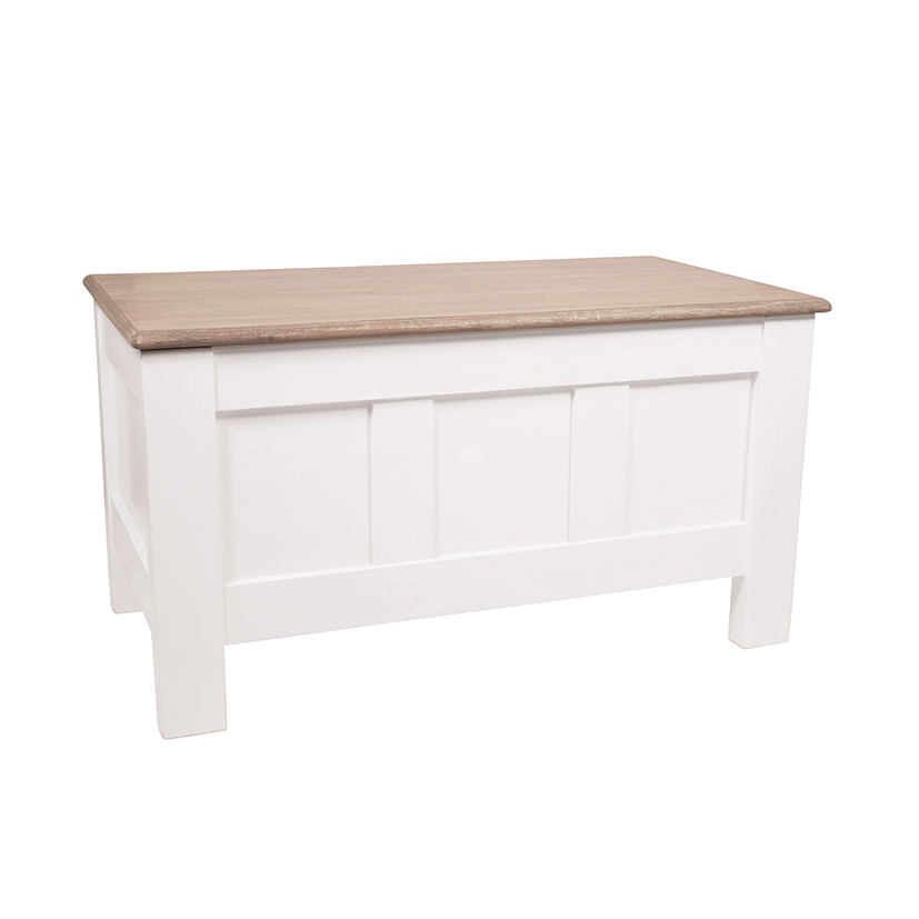 Heritage Range - Antique White Wooden Blanket Box