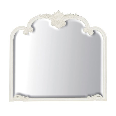 Ornate Ivory Over Mantel Wall Mirror - Louis XV 100cm x 94cm