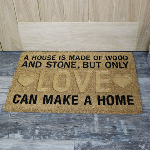 'A House is Made of Wood...' Coir Door Mat