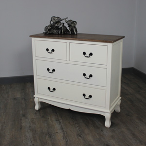 Adela Range - Cream 4 Drawer Chest of Drawers