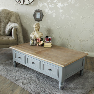 Six Drawer Coffee Table - Admiral Range